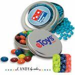 Custom Imprinted Circular Window Tin Assorted- Jelly Belly Candy by Color