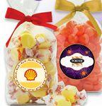 Promotional French Bottom Stand Up Bags w/ Bows Filled w/ Jelly Belly