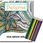 Relax Pack - Patterns Coloring Book for Adults + Colored Pencils Custom Imprinted