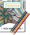 Relax Pack - Patterns Coloring Book for Adults + Colored Pencils Logo Branded