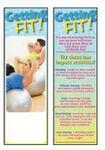 Custom Imprinted Getting Fit Bookmark
