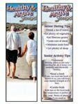 Logo Branded Healthy & Active Seniors Bookmark