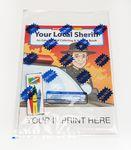Custom Imprinted Your Local Sheriff Coloring & Activity Book Fun Pack