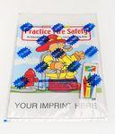 Custom Imprinted Practice Fire Safety Coloring Book Fun Pack
