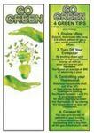 Logo Branded Go Green Bookmark