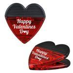 Logo Branded Magnetic Heart Shaped Clip