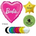 "Mylar Balloon - 10"" - Heart, Round or Star Shaped Custom Imprinted"