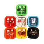Logo Branded Ear Buds in Case W/Matching Covers - Premium