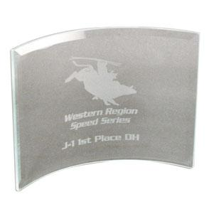 Beveled Glass Crescent Award