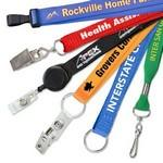 "3/4"" Custom Silkscreen Flat Ribbed Polyester Lanyards Custom Imprinted"