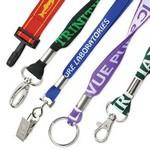 "1"" Flat Woven Polyester Custom Lanyards Custom Printed"