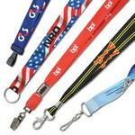 "Logo Imprinted 5/8"" Smooth Polyester Custom Dye-Sublimated Lanyards"