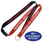 "1"" 2Tone Custom Silkscreen Lanyards with Breakaway Custom Printed"