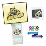 Square LogoClip™ Badge Holders Custom Printed