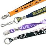"3/4"" Woven 2Tone Polyester Custom Lanyards Custom Printed"