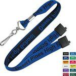 "5/8"" Flat Woven Polyester Custom Lanyards Custom Imprinted"