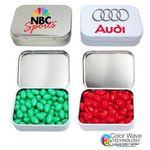 Logo Branded Rectangular Hinged Mint Tin Box Small w/Mints