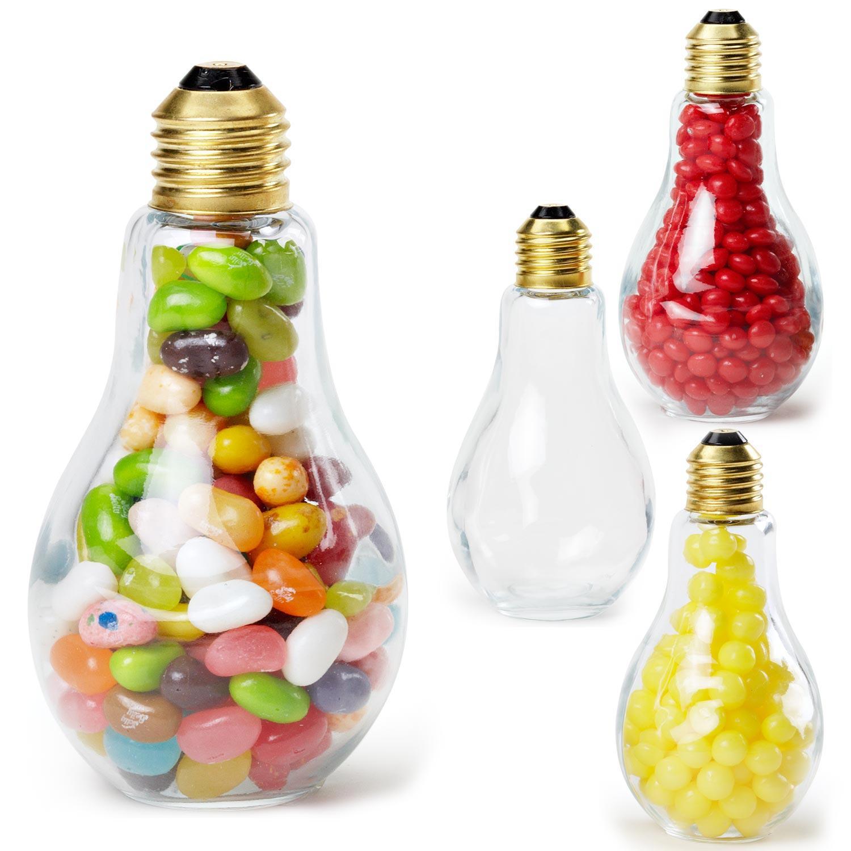 custom printed light bulb shape jar medium wjelly beans