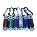 Logo Branded Mini LED Flashlight With Carabiner