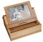 "Bamboo Treasure Box with Picture Frame (4"" x 6"") Custom Printed"