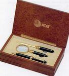 Personalized Executive Pen, Magnifier, and Letter Opener Set in Wood Box