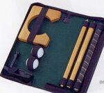Custom Imprinted Quality Putter Set in Black Zipper Pouch