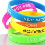 Custom Engraved 1/2 Inch Printed Wristbands/Silicone Bracelets