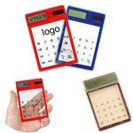 Custom Imprinted Transparent Solar Touch Screen Calculator