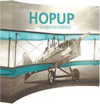 Hopup 10ft wide Curved Display & Tension Fabric Graphic Logo Branded