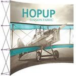 Hopup 10ft Full Height Curved Display & Front Graphic Logo Branded