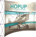 Hopup 10ft Full Height Curved Display & Front Graphic Custom Imprinted