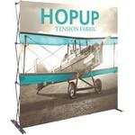 Hopup 8ft Full Height Straight Display & Front Graphic Logo Branded