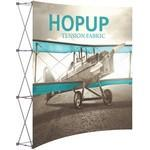 Hopup 8ft Full Height Curved Display & Front Graphic Logo Branded