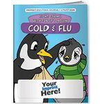 Custom Imprinted Coloring Book - Cold and Flu: Fight Germs with Pengy Penguin