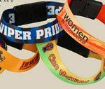 "Custom Imprinted 3/4"" Sublimated Heavy Weight Satin Wristband"