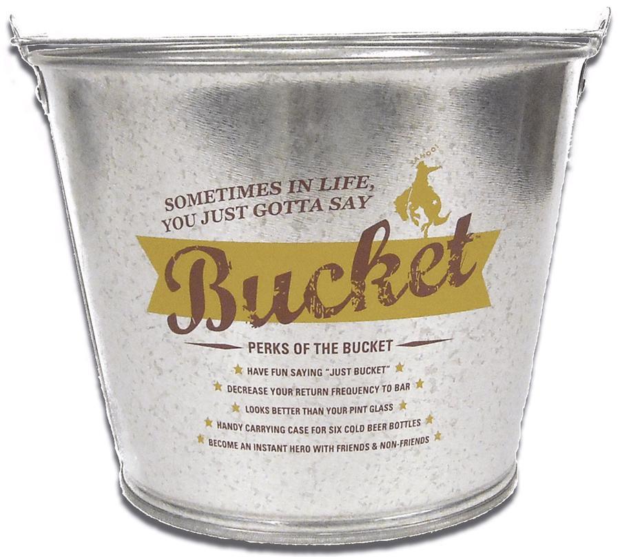 5 Quart Galvanized Metal Bucket Custom Imprinted Brava