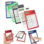 Transparent Solar Touch Screen Calculator Custom Branded
