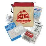 Custom Printed Recovery Kit Canvas Zipper Tote Kit