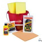 Custom Printed Detailing Car Wash Kit W/ Assorted Cleaners