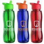25 Oz. Tritan™ Slim Grip Bottle W/ Flip Straw Handle Lid Custom Printed