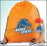 Polyester Drawstring Backpack and Bottle Custom Printed