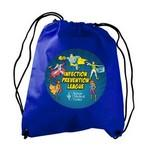 Custom Printed The Recruit - Non-woven Drawstring Backpack- digital imprint