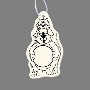 Paper Air Freshener Tag W/ Tab - Dog & Cat