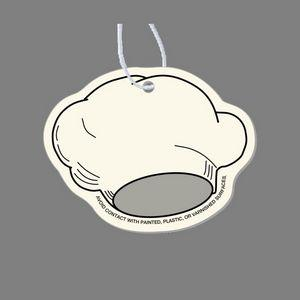 Paper Air Freshener Tag - Chef's Hat (Wide)