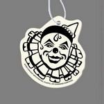 Paper Air Freshener Tag W/ Tab - Clown (Pointed Hat) Logo Imprinted