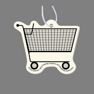 Paper Air Freshener Tag W/ Tab - Empty Grocery Cart