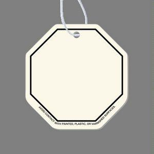 Paper Air Freshener Tag - Octagon Tag (Stop Sign, Blank)