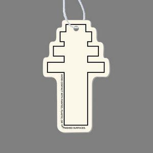Paper Air Freshener Tag - Papal Cross