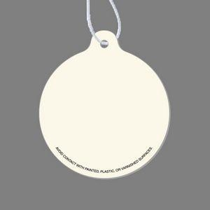 Paper Air Freshener Tag W/ Tab - Circle