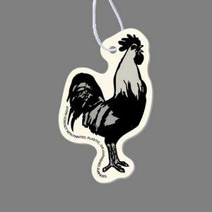 Paper Air Freshener - Rooster Tag W/ Tab (Right Side View)